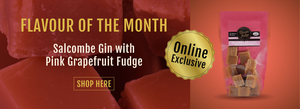 Salcombe Gin with Pink Grapefruit Fudge