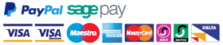 Safe and secure payment with Paypal, Sagepay